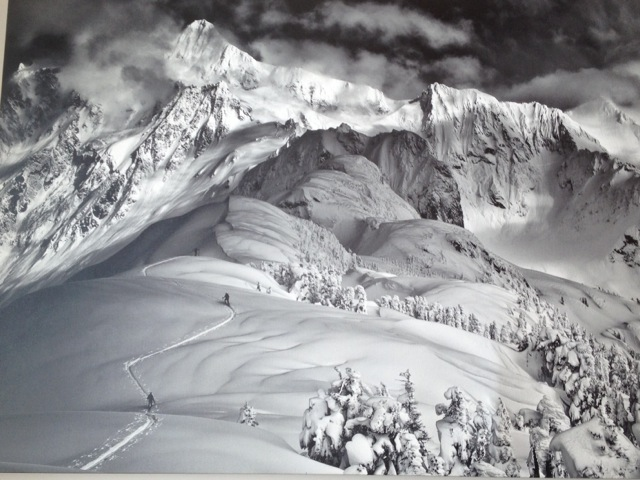Incredible Picture of a Picture of Mt Baker Taken in the Day Lodge