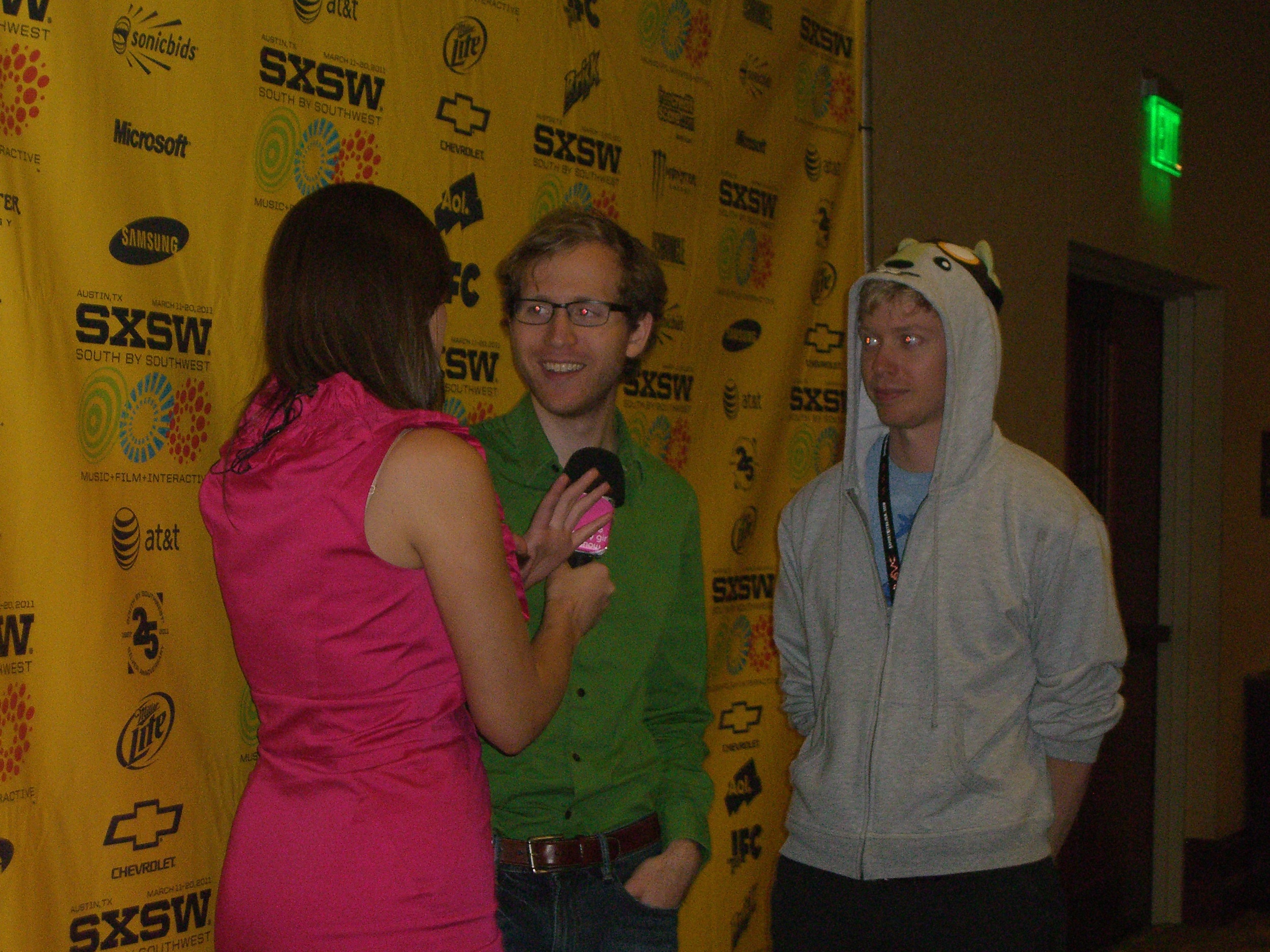 A young entrepreneur being interviewed from Hipmunk (Ashton Kutcher invested in them).