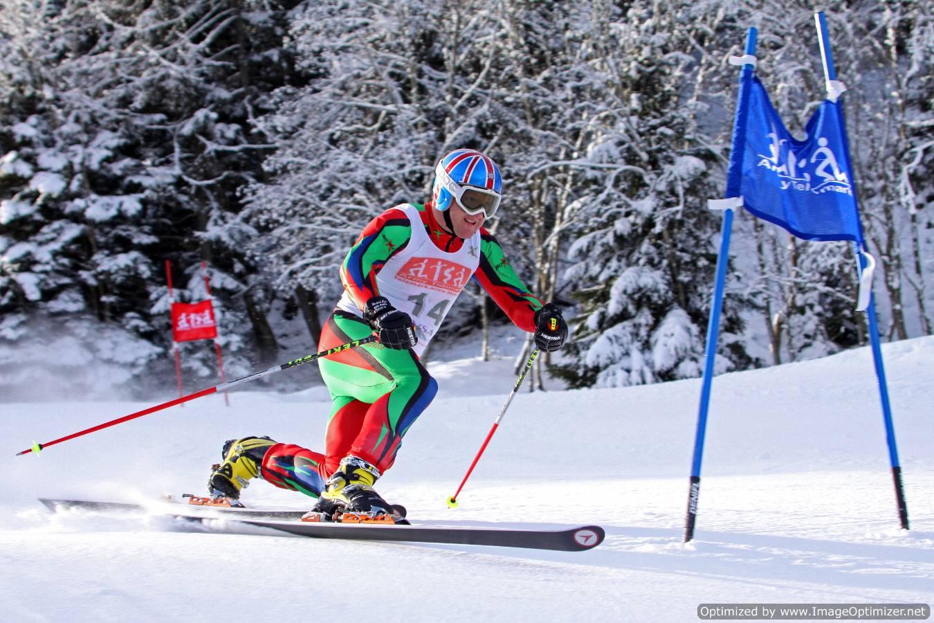 Telemark racing at the mens British Telemark Champs