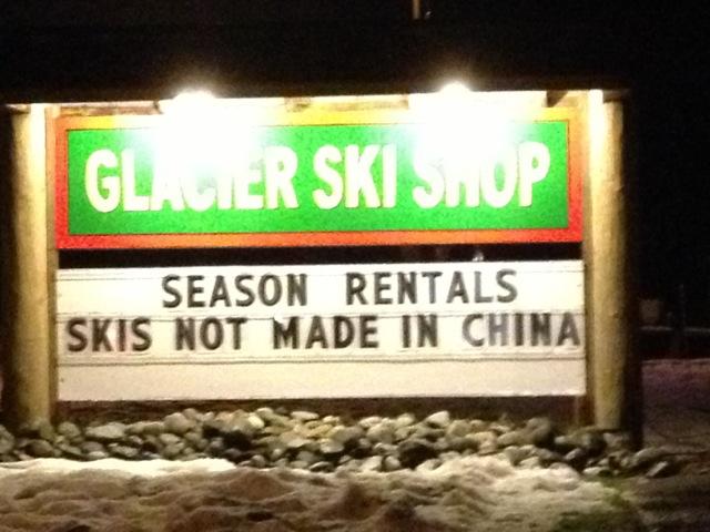 Interesting Point of Differentiation at Glacier Ski Shop!