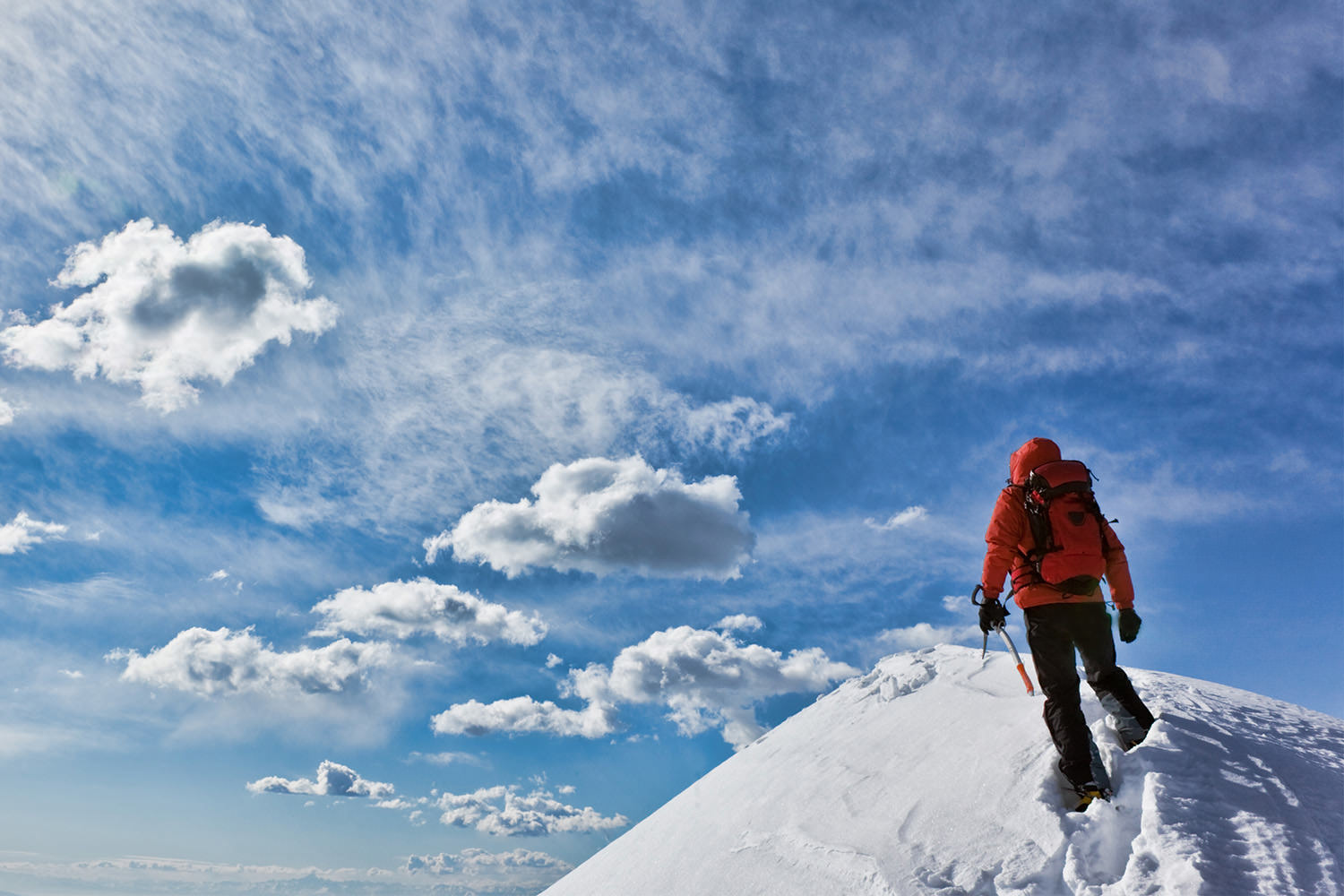 High Alpine terrain with long and varied ski descents.