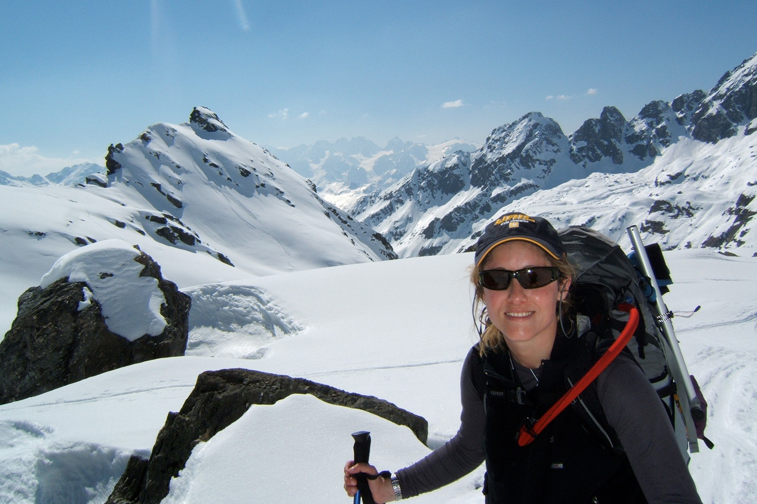 Total Heliski CEO Hayley exploring the back country, which is close to our hearts.
