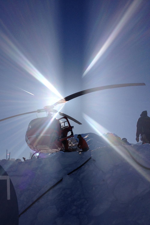 Ready to go heli skiing.