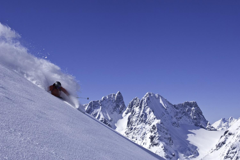 Heli Ski the Alpine Terrain in BC