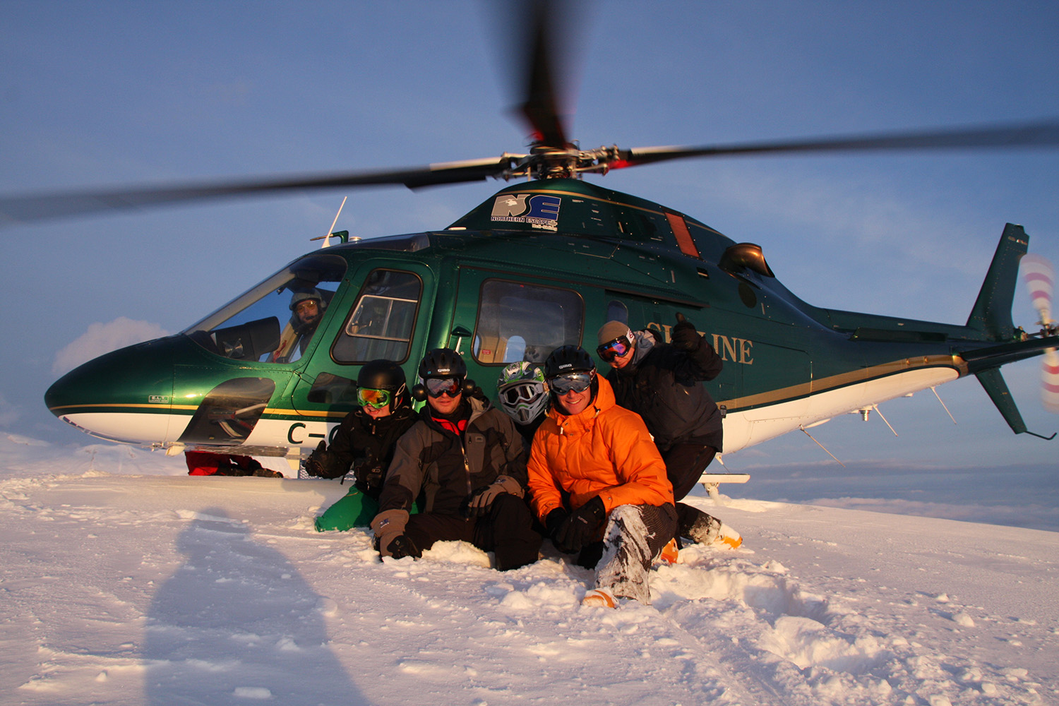 Heli ski in Koala helicopters which offer more space, more power and more speed.