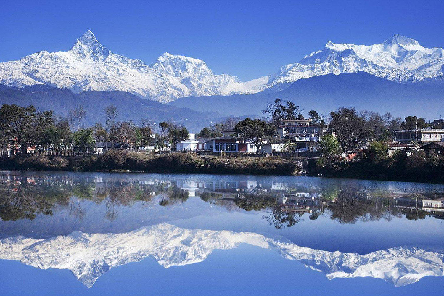 Pokhara, this is where we stay for the heli ski week.