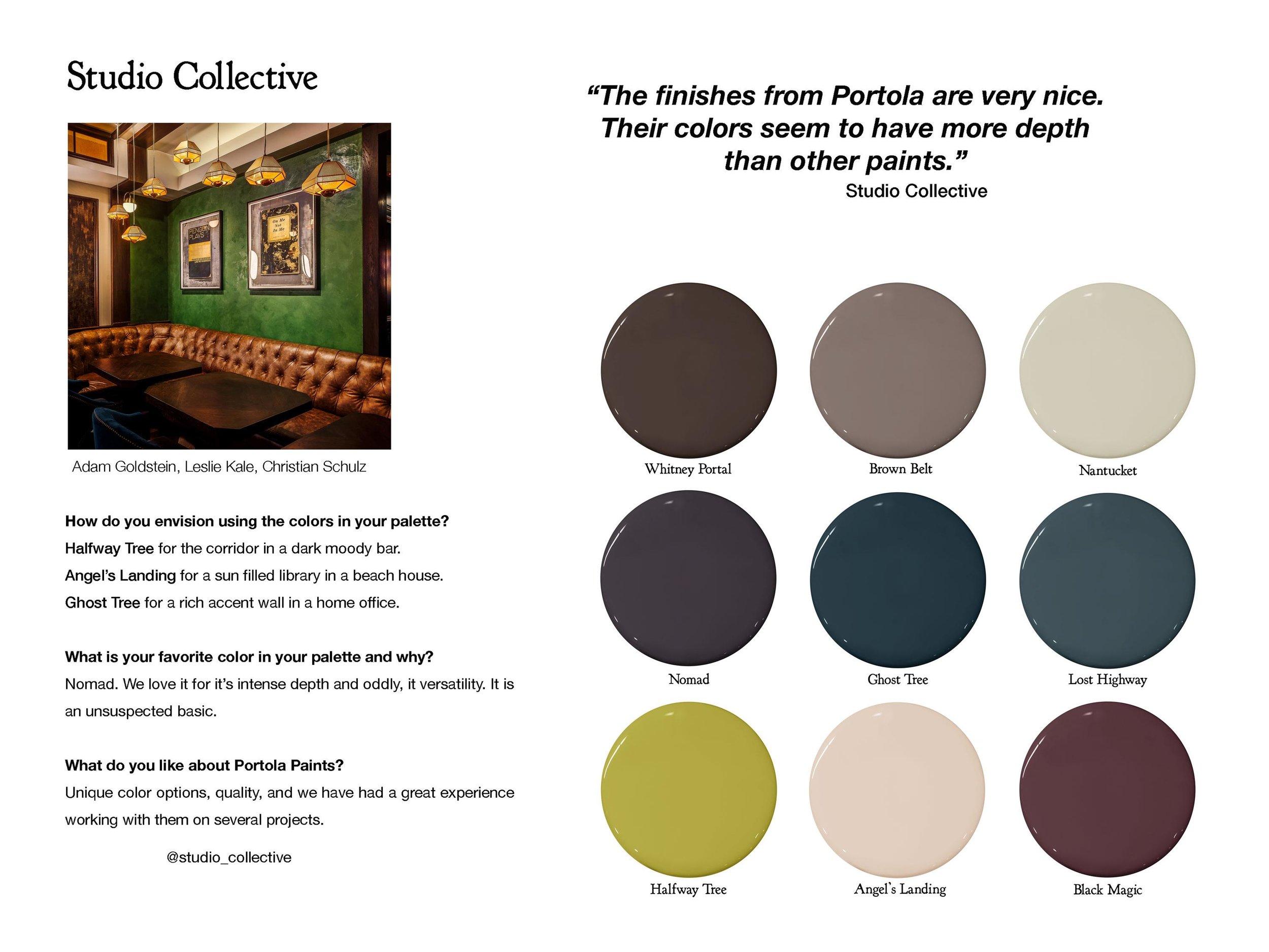 Follow Studio Collective:  studio-collective.com  ,  instagram.com/studio_collective   Color Picks:  Whitney Portal ,  Brown Belt ,  Nantucket ,  Nomad ,  Ghost Tree ,  Lost Highway ,  Halfway Tree ,  Angel's Landing ,  Black Magic