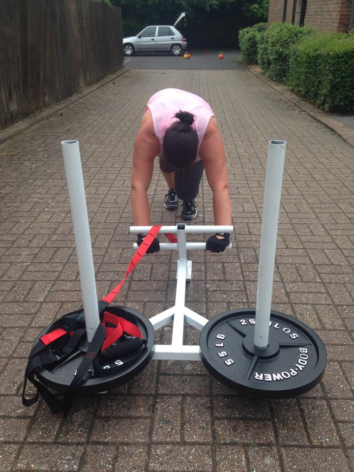 Michelle working very hard to achieve her  fitness  goals! www.youdeservethis.com