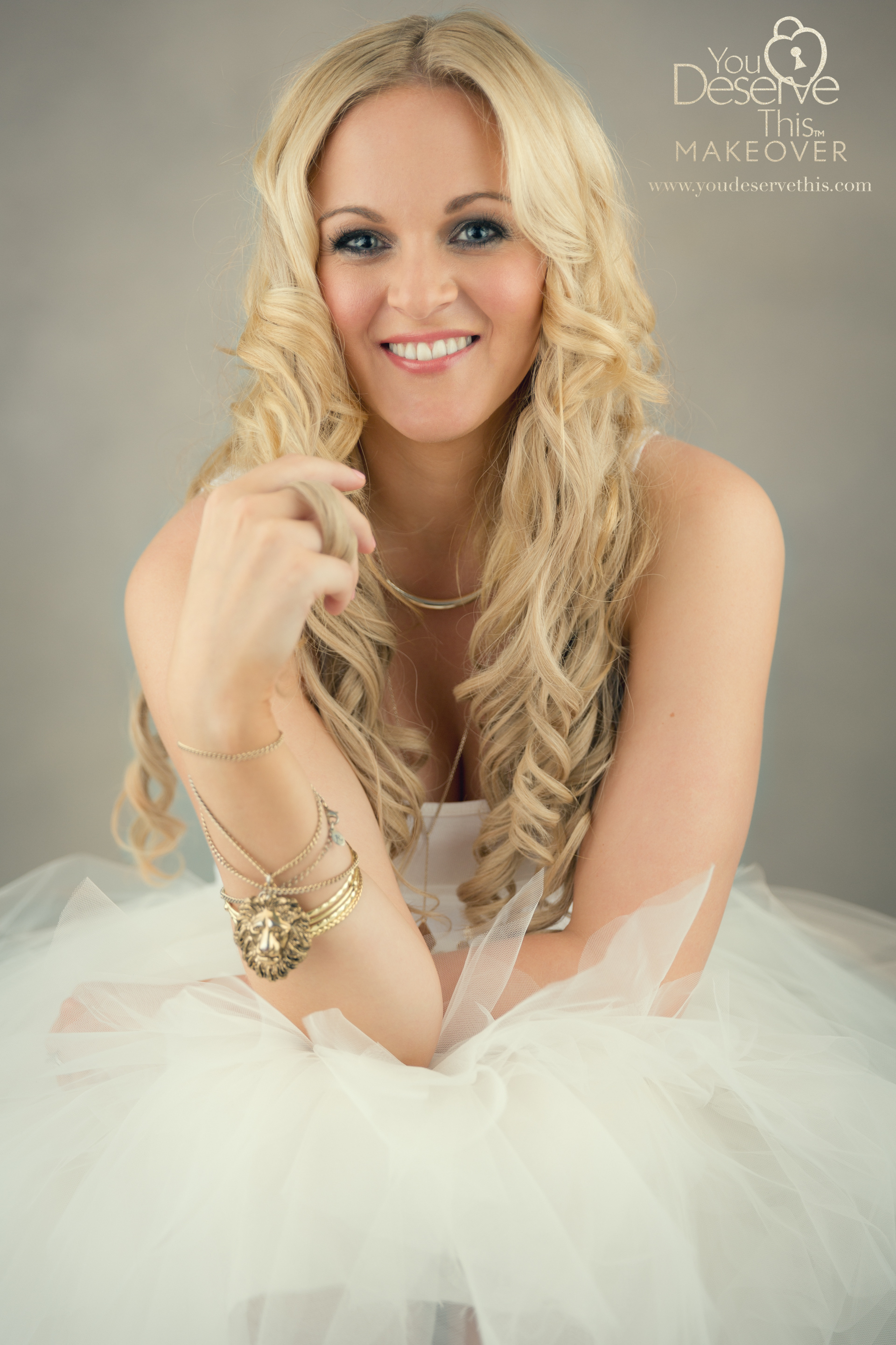 Beautiful jewellery adds glamour to your portraits.  www.youdeservethis.com