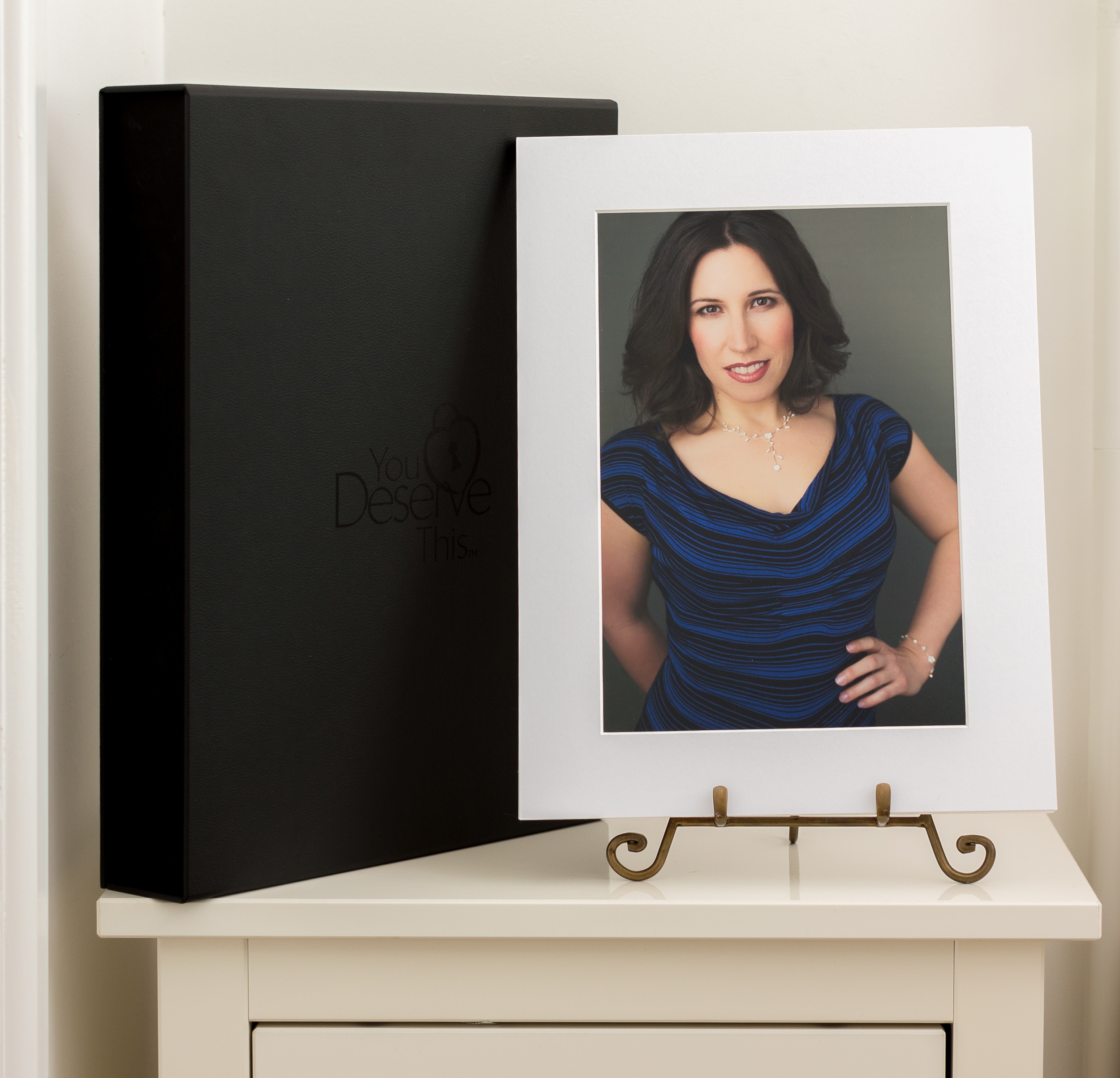 Gorgeous Folio Keepsake Box, included with our Print Packages - with mounted and matted photographs to treasure  www.youdeservethis.com