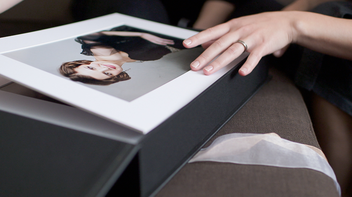 YouDeserveThis makeover photoshoot - Luxury Folio Box with Mounted and Matted Photographs -  www.youdeservethis.com