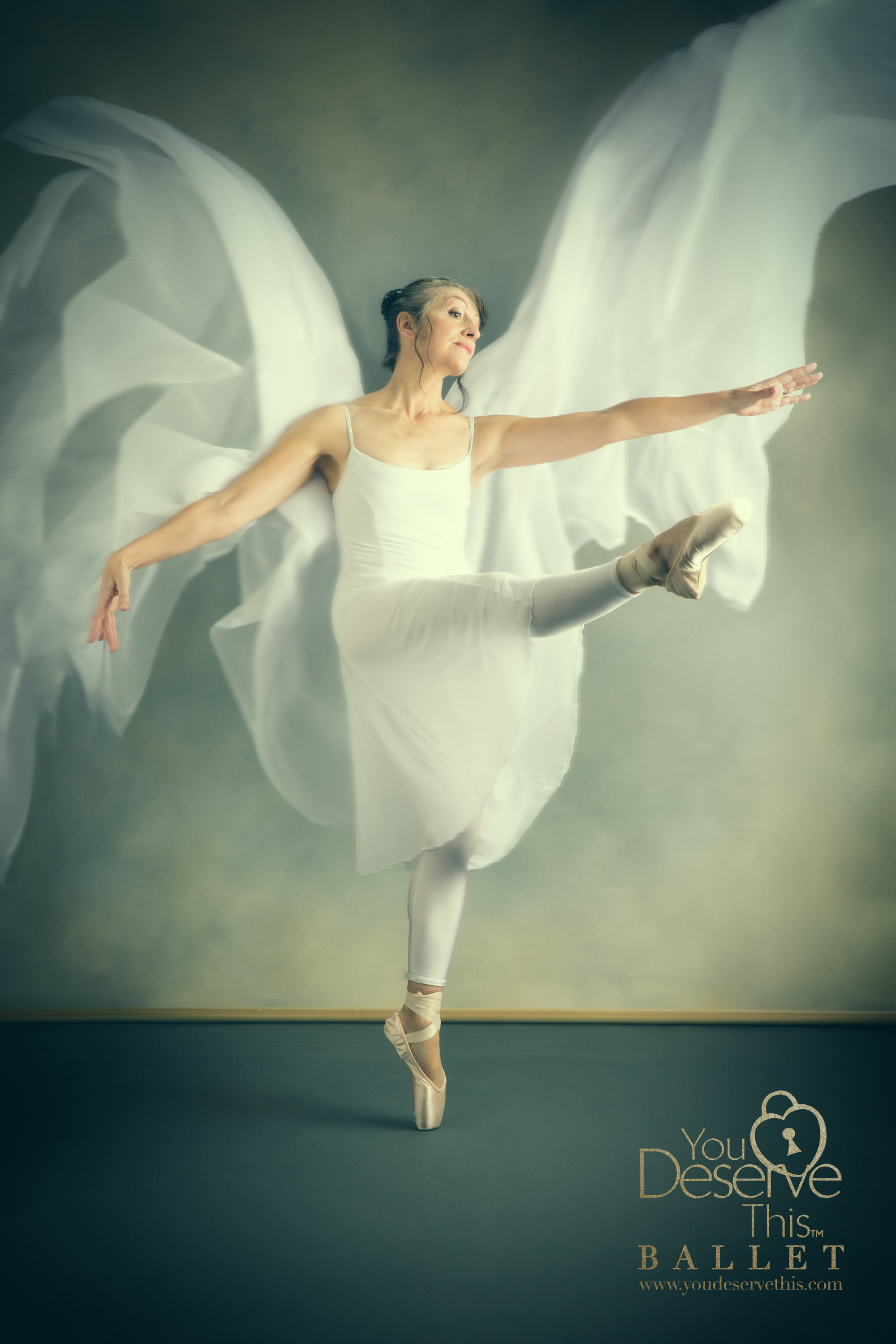 Dancing Angel! we had so much fun creating this stunning Ballet Portrait with Margaret. Wow! www.youdeservethis.com