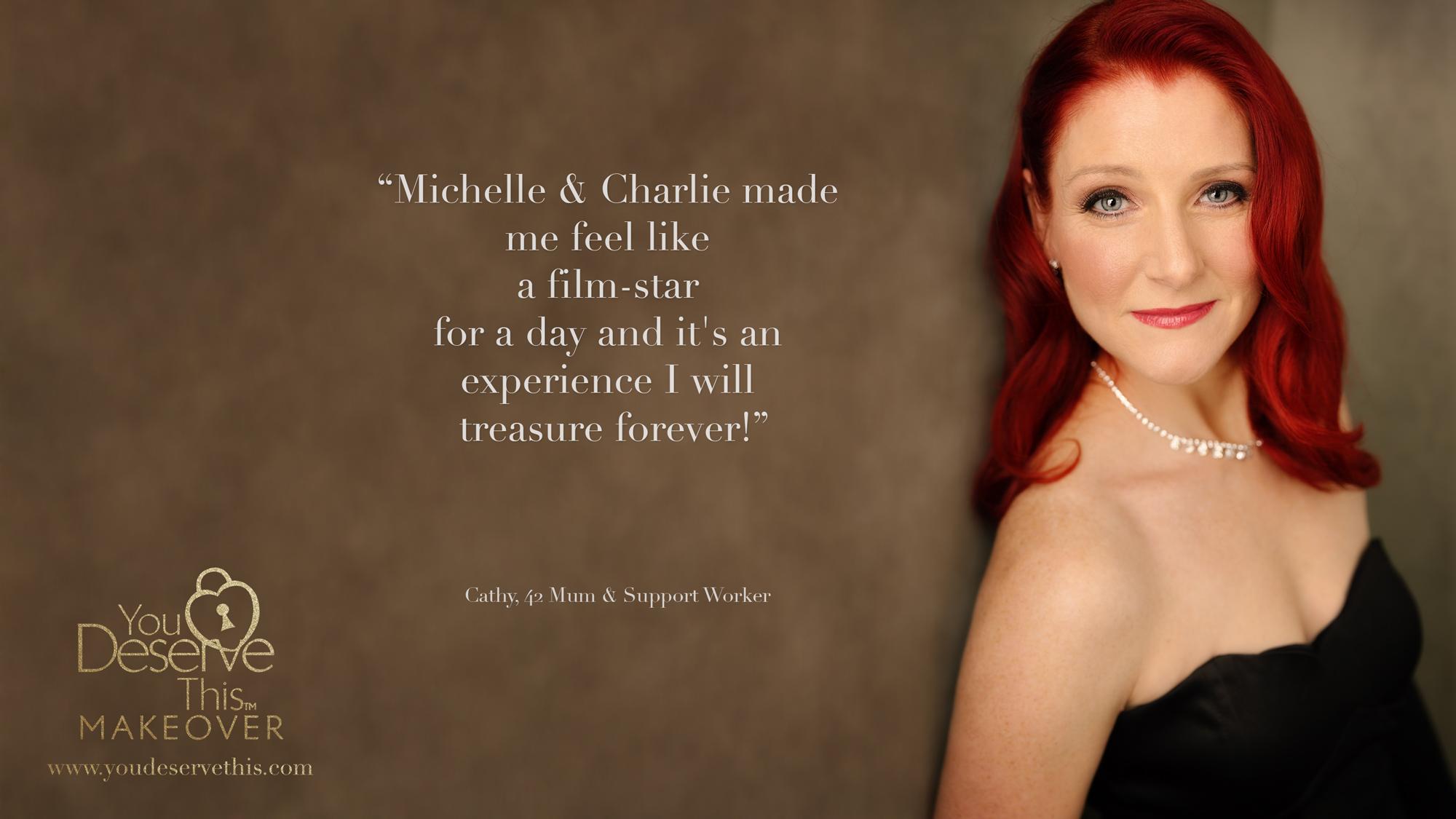 I felt like a film-star for a day and it's an experience I will treasure forever!  www.youdeservethis.com