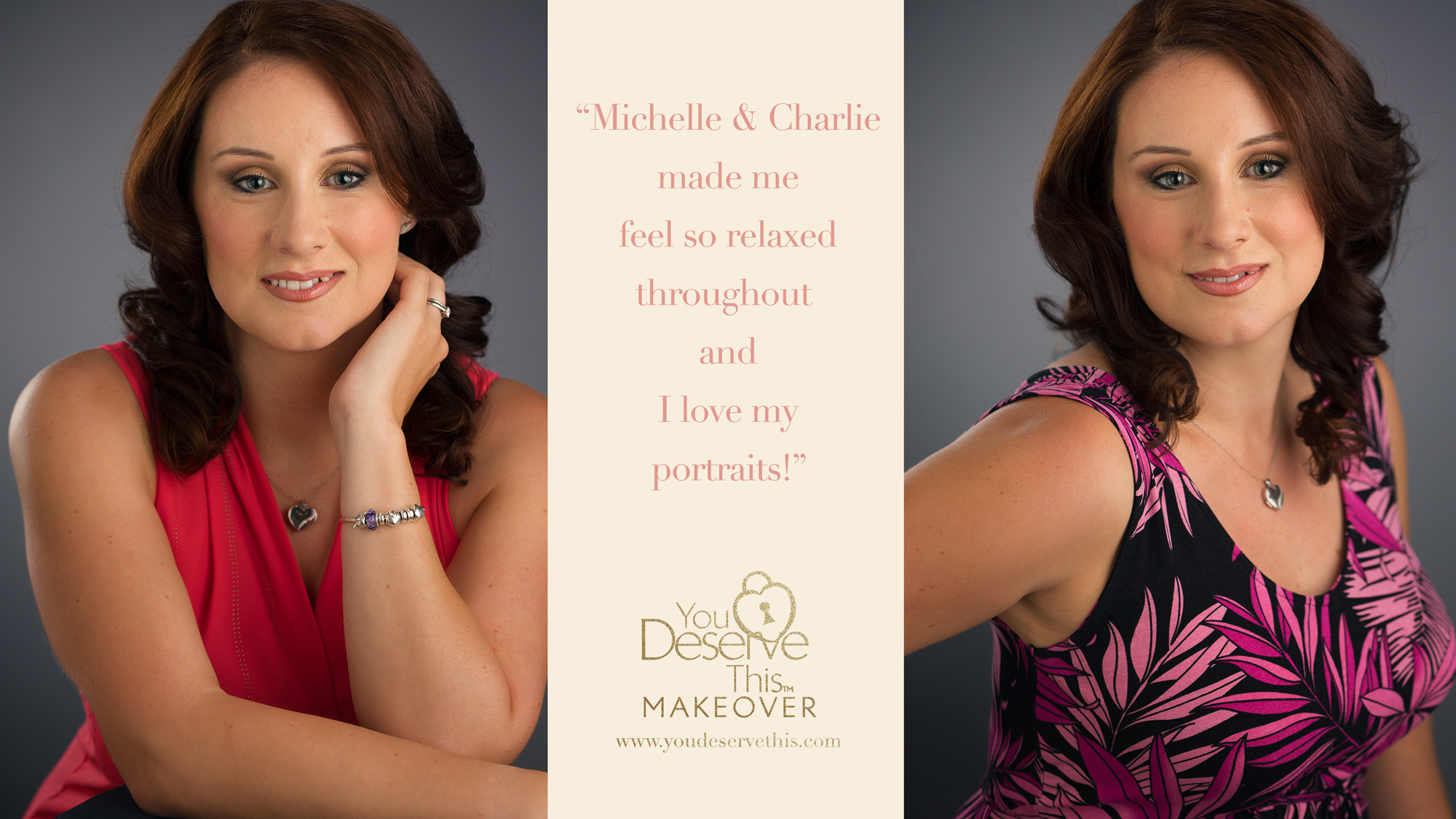 Michelle and Charlie made me feel so relaxed throughout and I love my portraits.  www.youdeservethis.com