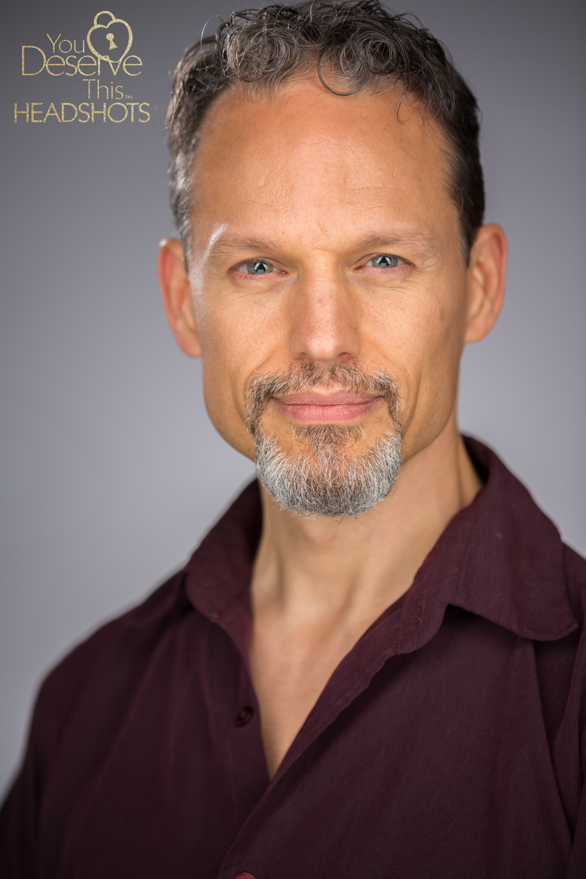 Professional actors headshots, capturing different expressions.  youdeservethis.com