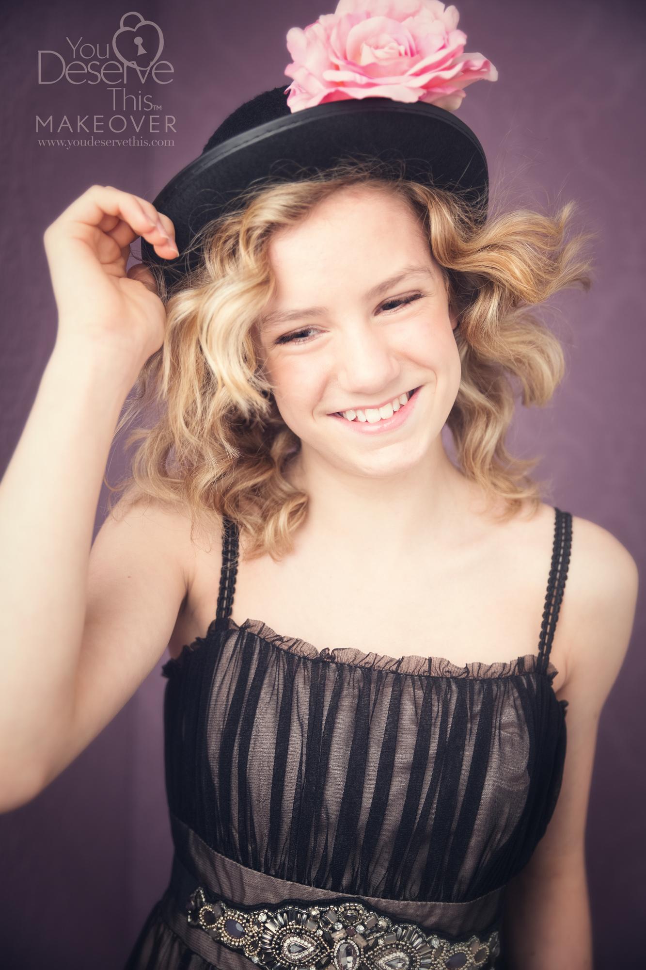 Amber had a mini photo shoot aged 11