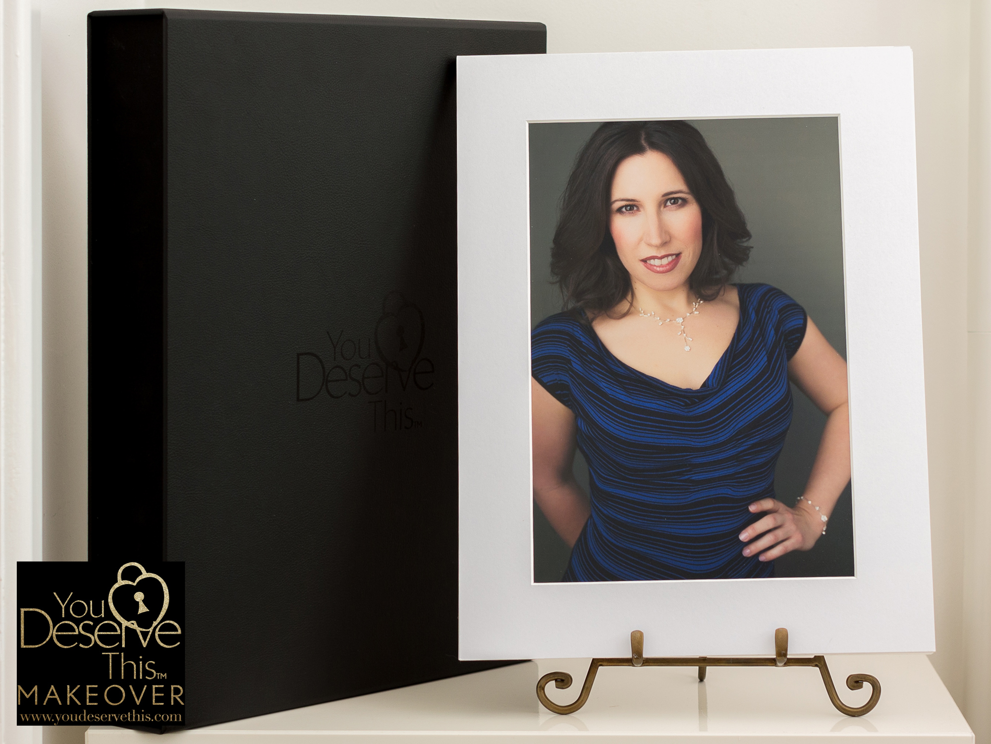 you deserve this makeover and photoshoot folio keepsake box