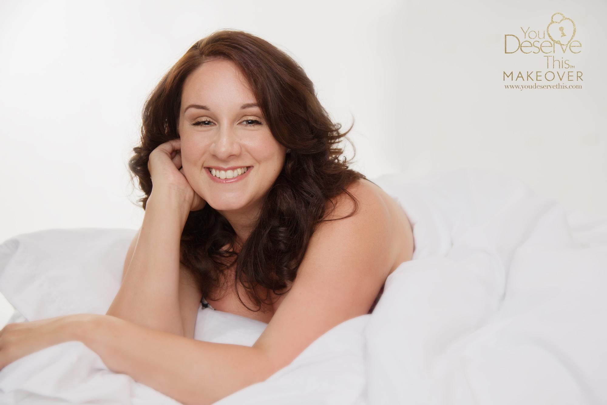 White sheet boudoir photography Surrey