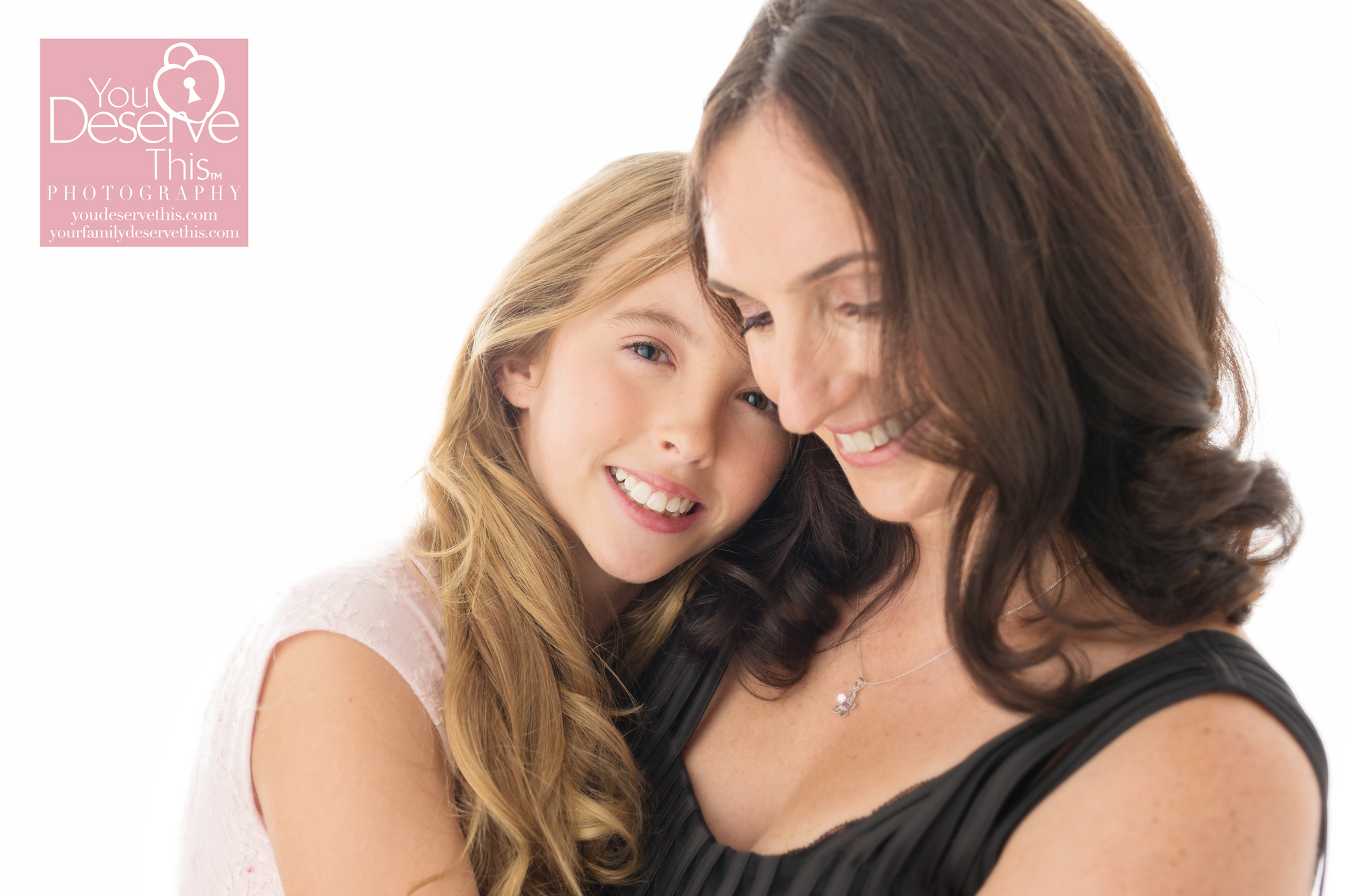 This is one of our favourite mum and daughter portraits from their photoshoot at our photography studio nr Reading, Berkshire  youdeservethis.com