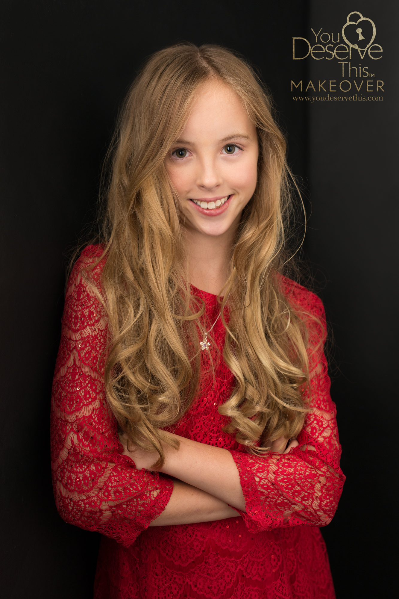 We love capturing your daughters character, a favourite red dress on our luxurious black backdrop creates a portrait that commands attention.  youdeservethis photography