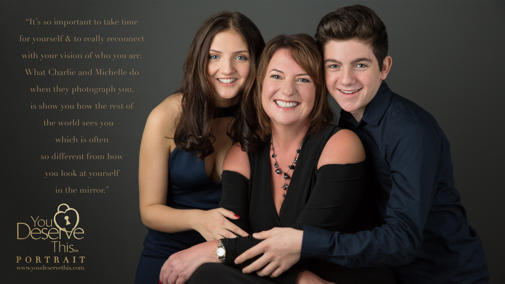 Wow, what a family makeover and a gorgeous looking family. You can visibly see the love and respect they have for each other.  YouDeserveThis Headshots, Makeover and Photography Studio ,You deserve this and so does your family.  www.youdeservethis.com