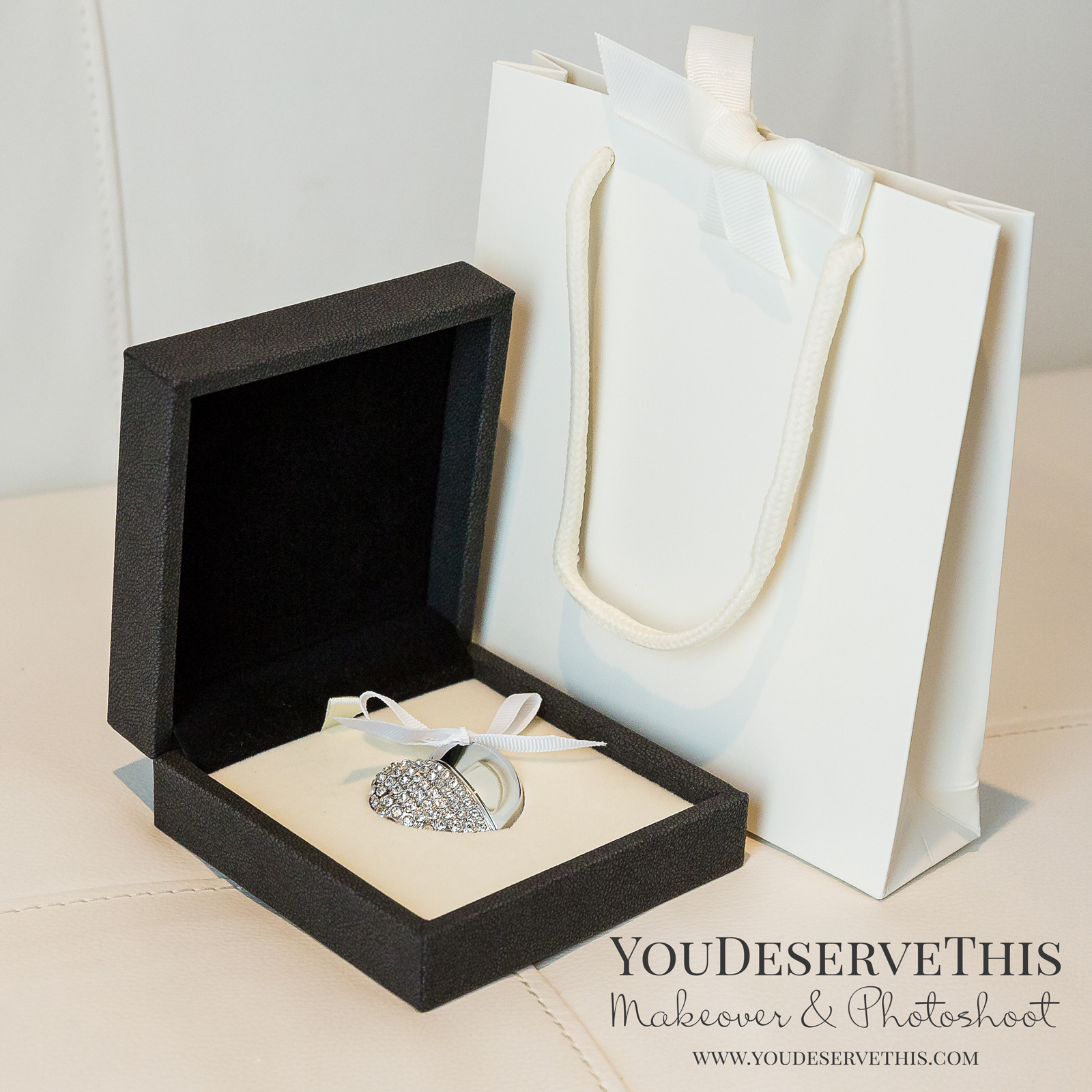 'Purely Digital' our most popular package - Includes our Crystal Heart USB - pictured left