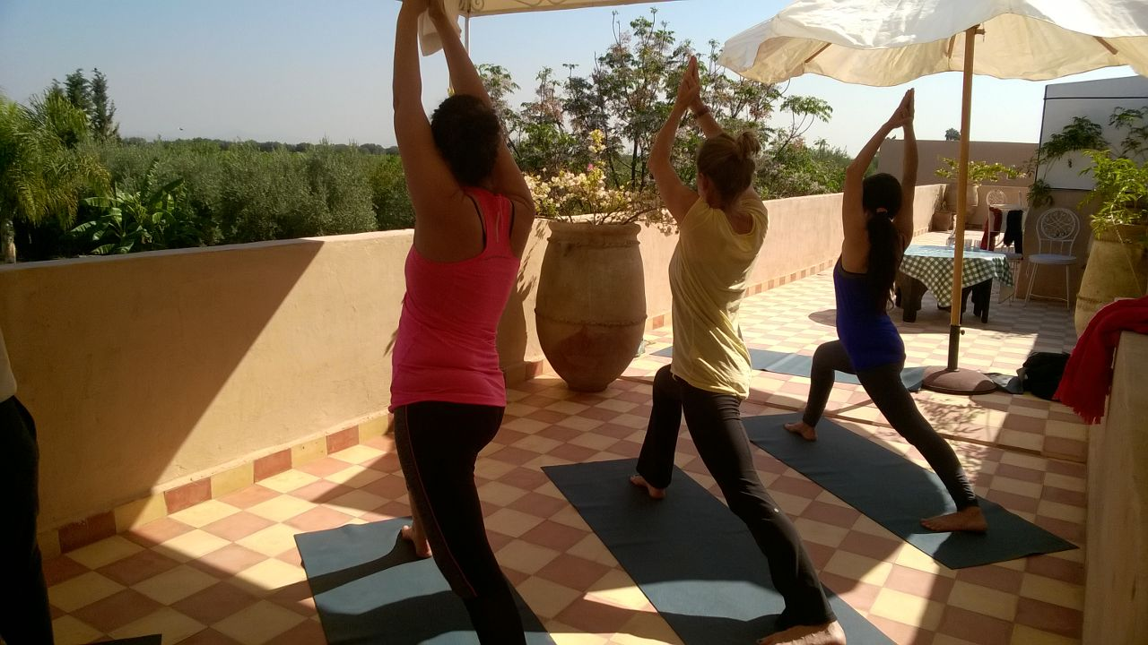 Yoga with views across the countryside
