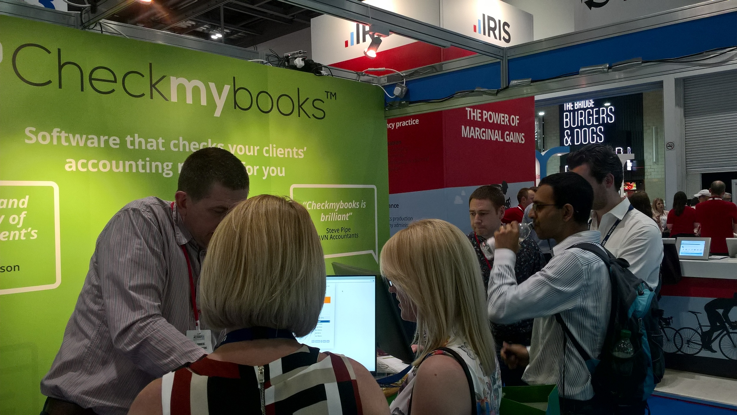 Rob and Nathan showing accountants Checkmybooks in action