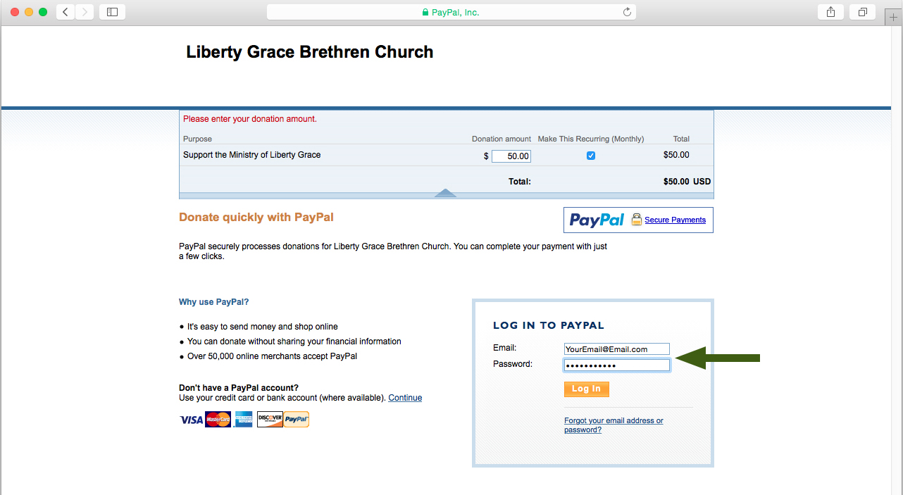 3. Use your personal PayPal account OR...