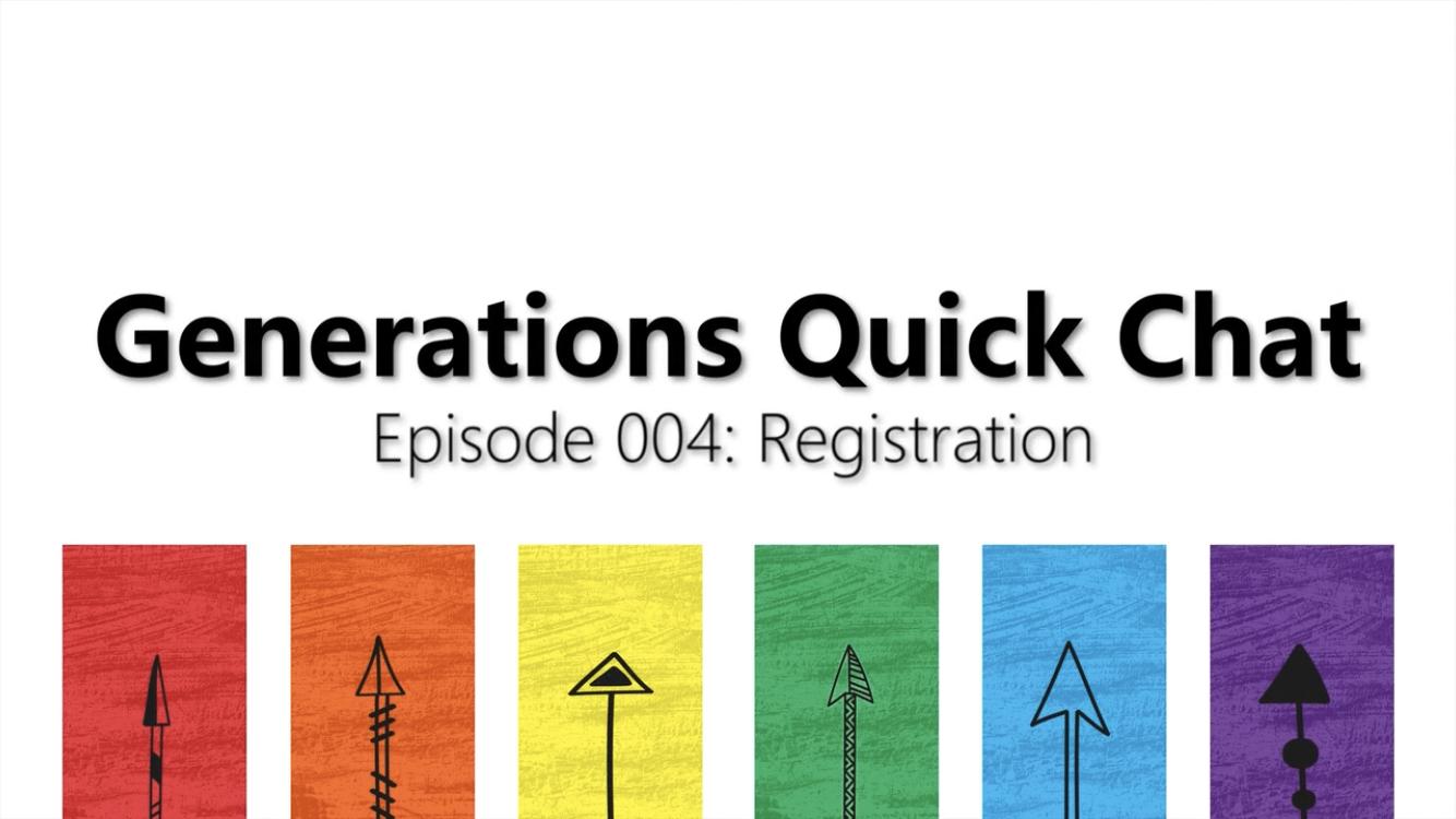 Episode 004: Registration -