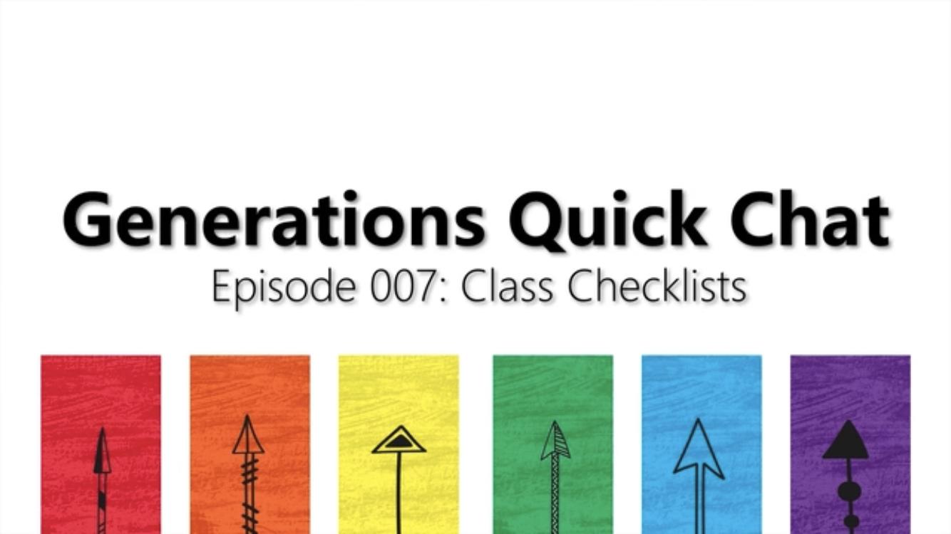Episode 007: Class Checklist -