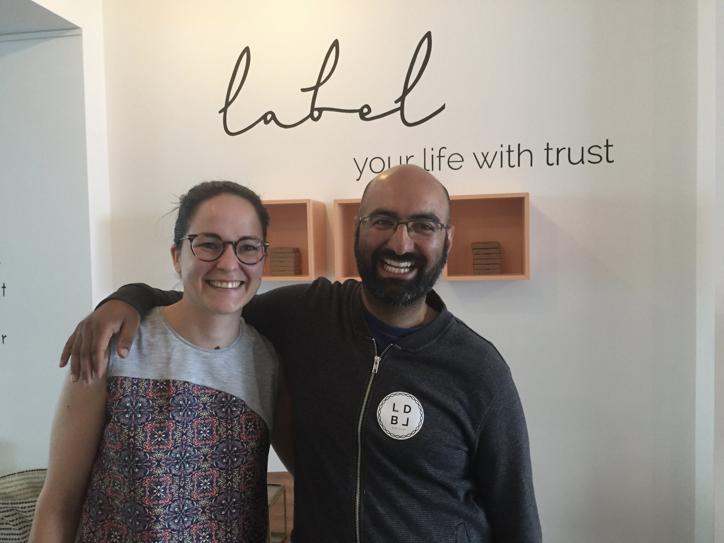 Here's me with one of the co-founders of this  trust movement
