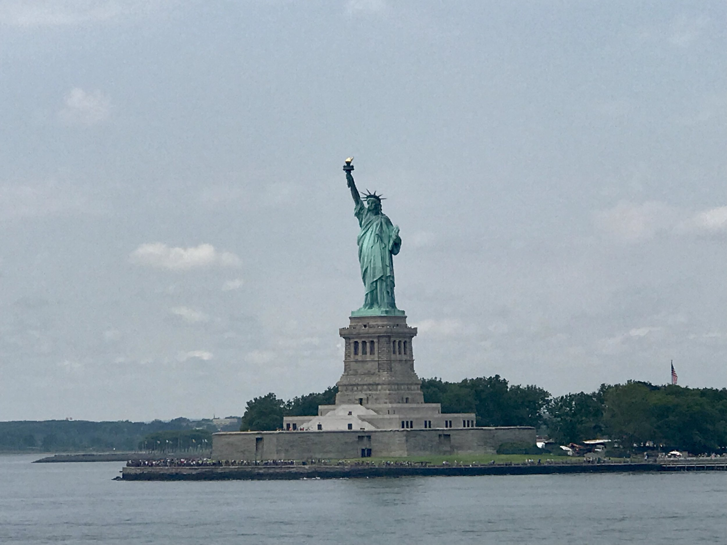 First time seeing the Statue of Liberty