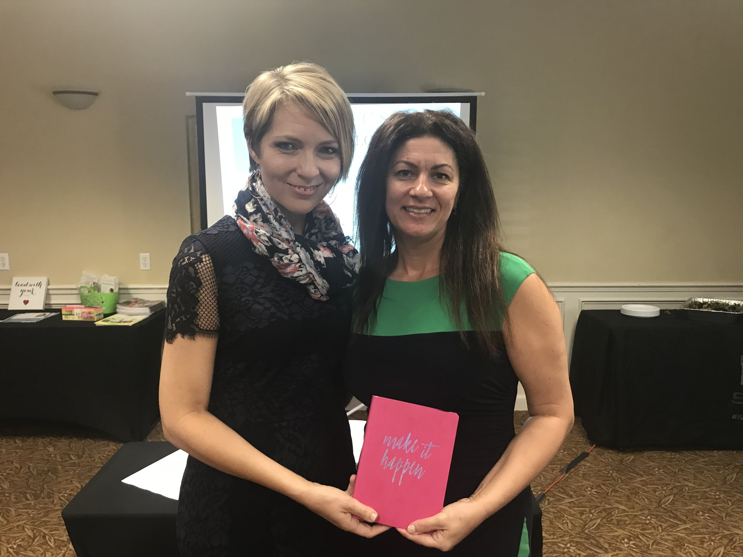 Erica Castner and Melissa Rocchio at the Women's Network of Collier County luncheon on April 10, 2018 in Naples.