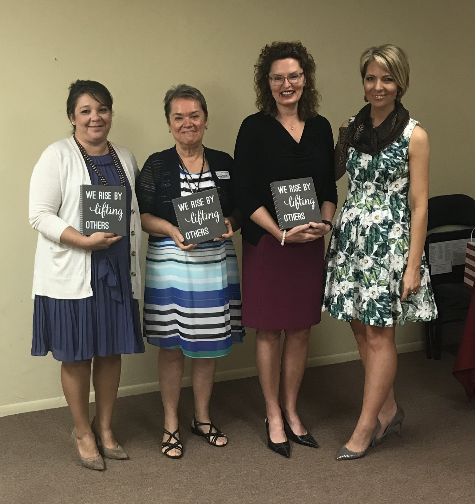 Colleen Jorgensen, Lisa Brown, Nancy Gibson and Erica Castner at the Dress for Success SW Florida WETES Graduation in Fort Myers - April 18, 2018.