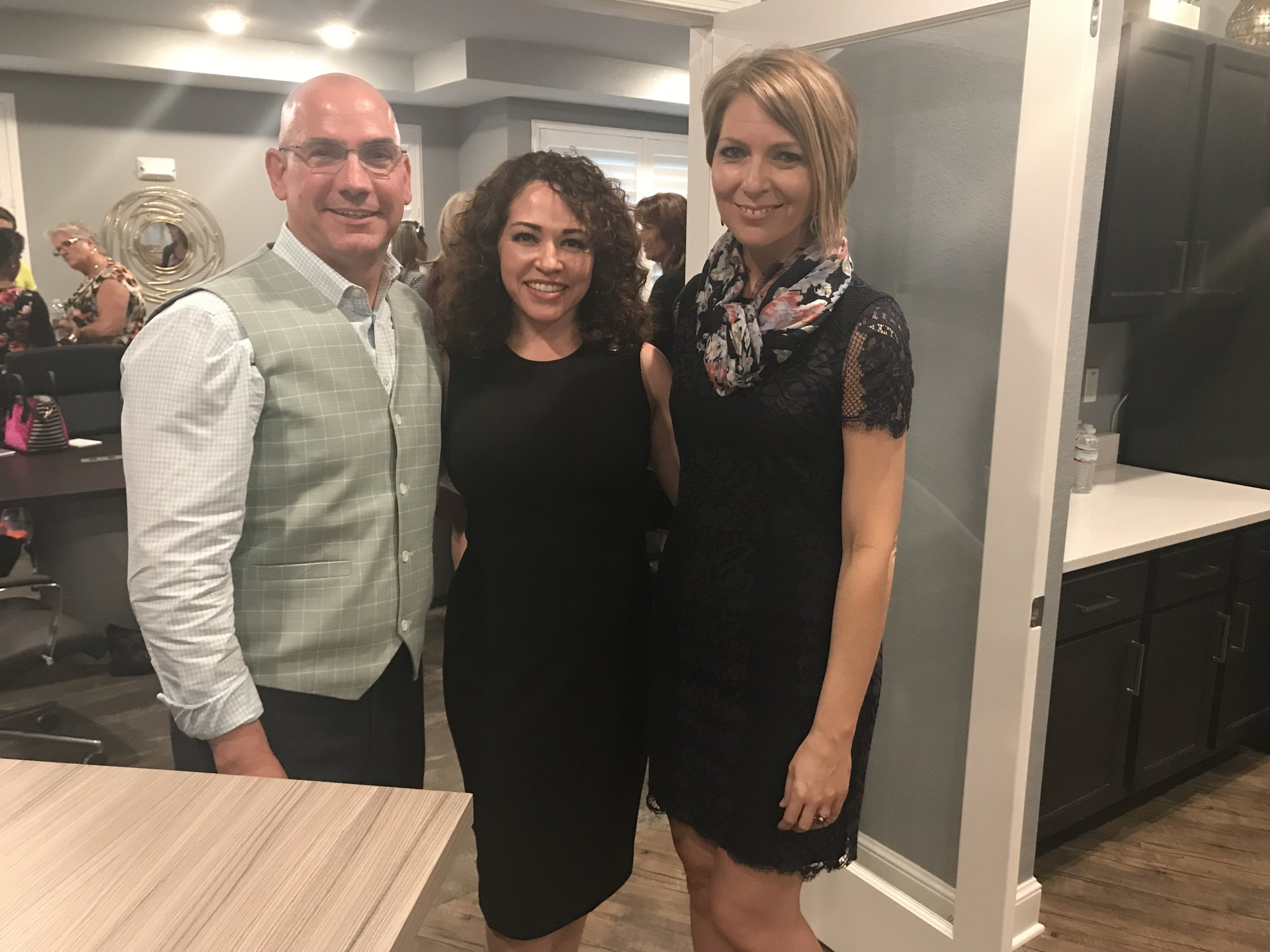 Ed Castner, Marcella Espinosa and Erica Castner at EPIC Game Plan event in Tampa on February 21, 2018.