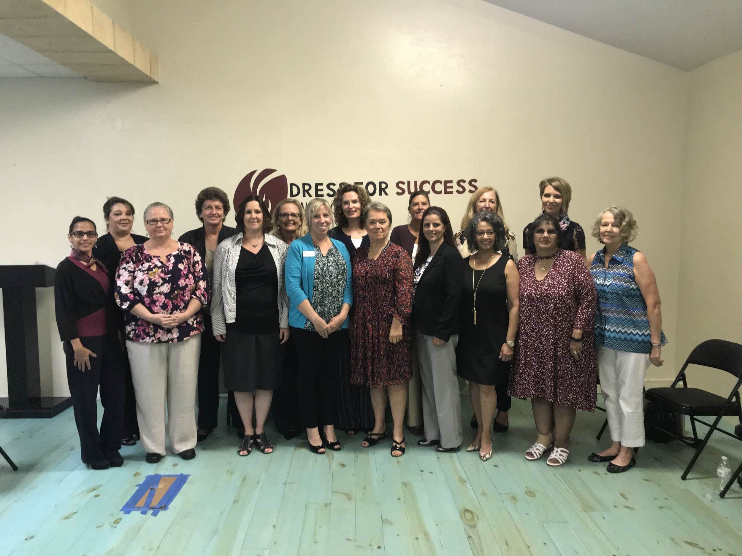 Dress for Success SW Florida WETES Graduation - Winter Class in Fort Myers, FL on February 21, 2018.