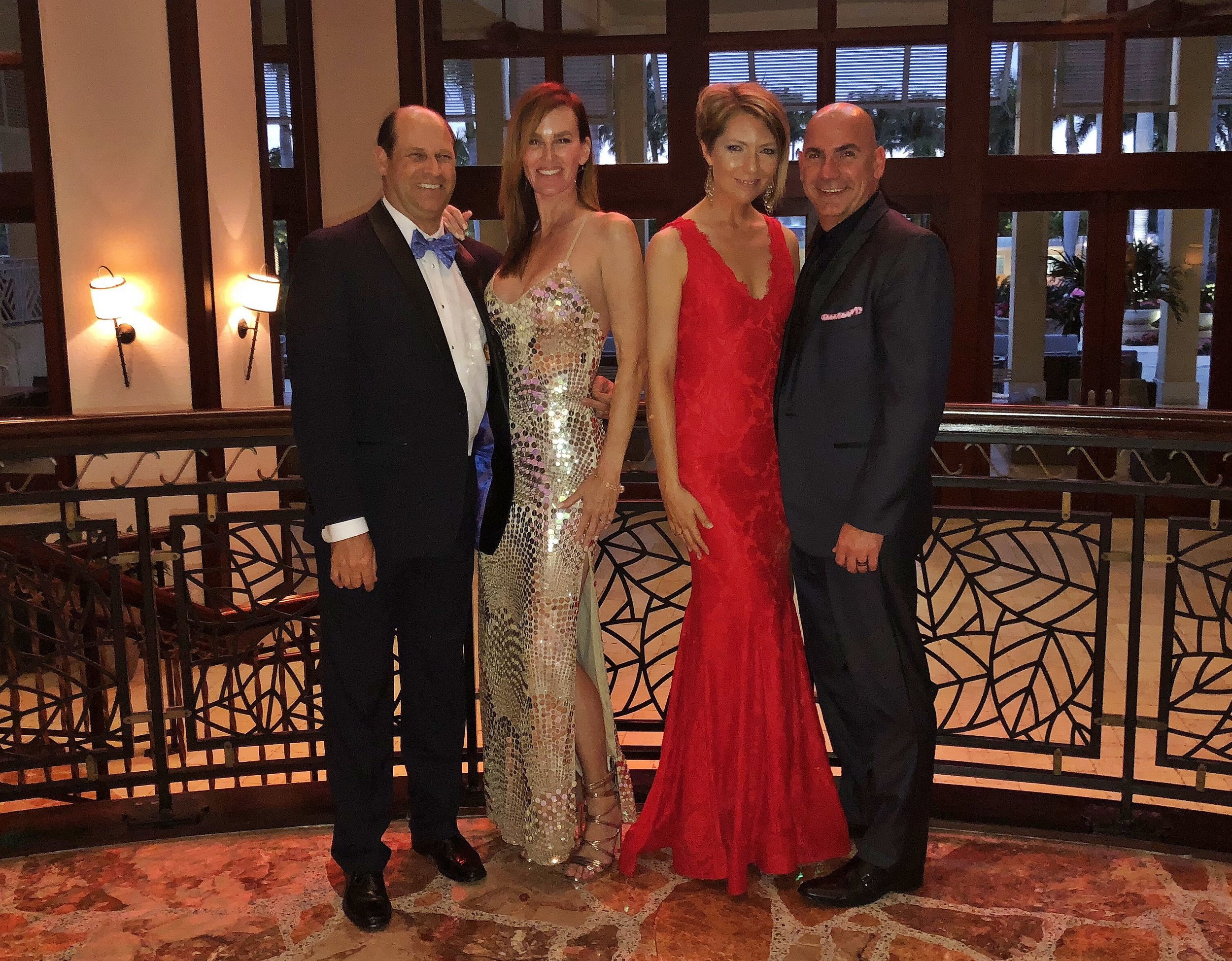 Greg and Samantha Campbell, Erica and Ed Castner at the 2018 Ronald McDonald HOuse Storybook Ball fundraiser at Hyatt Regency Coconut Pointe in Estero, FL on February 17, 2018.