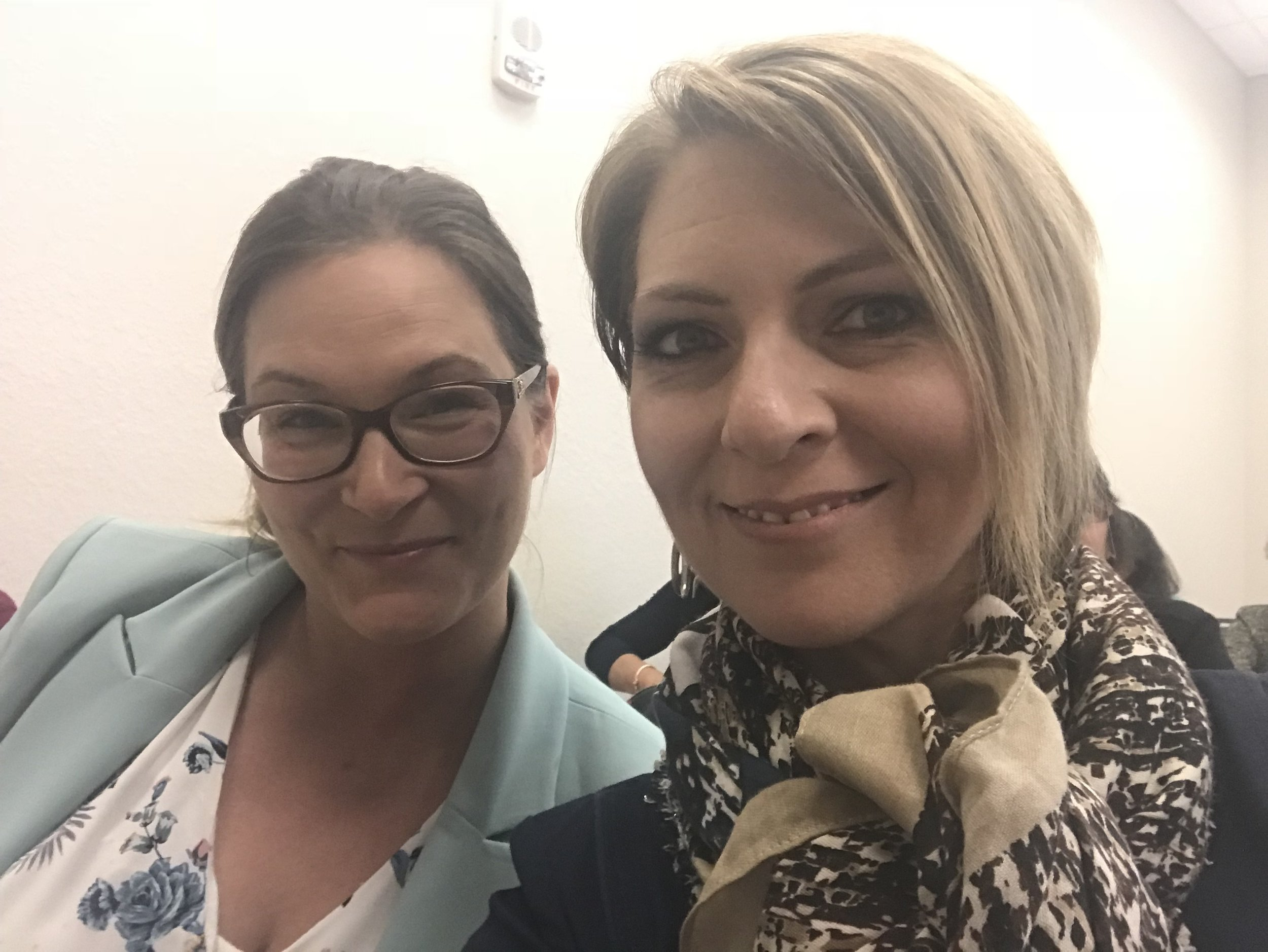 Mareike Stoutenburgh and Erica Castner at the Lee County Economic Development Council Women's Leadership Conference at Florida Southwestern College on February 16, 2018