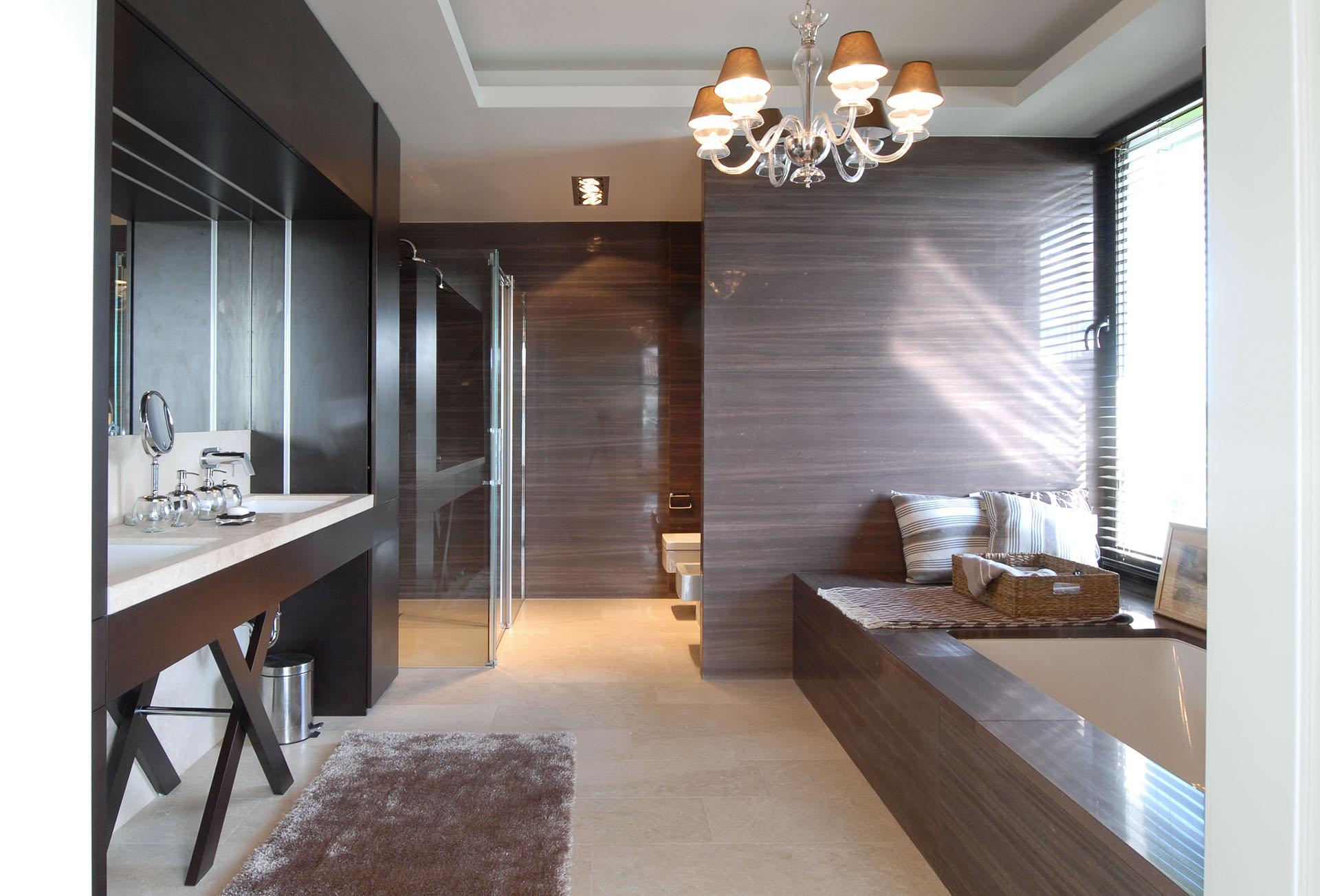 Projekt łazienki z kamienia