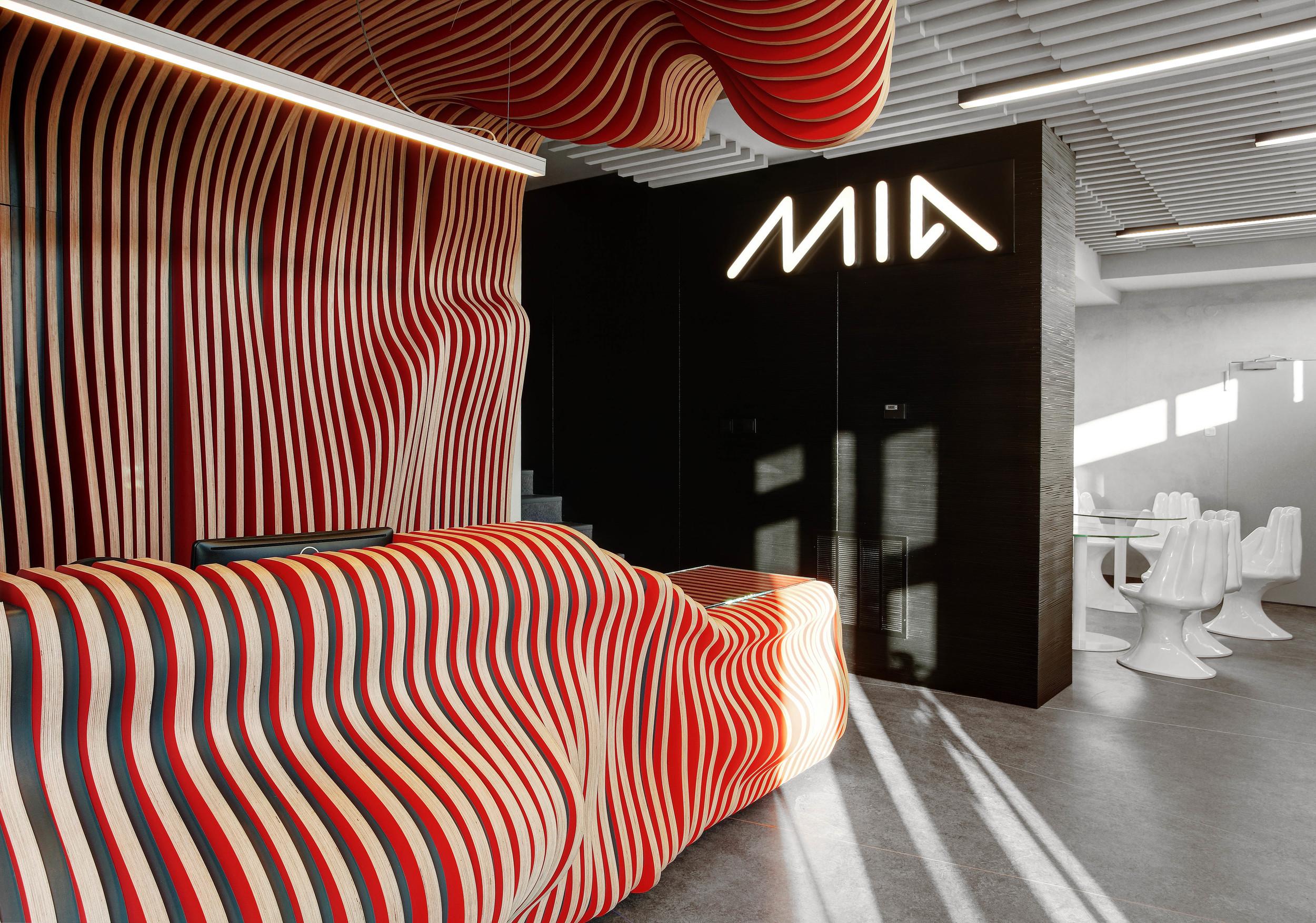 Projekt nowoczesnej recepcji biura