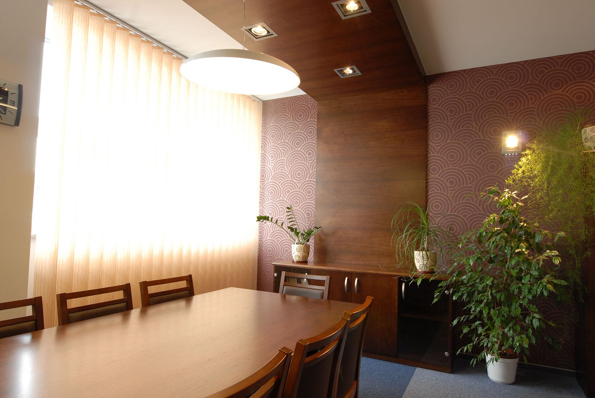 Gabinet połączony z miejscem spotkań