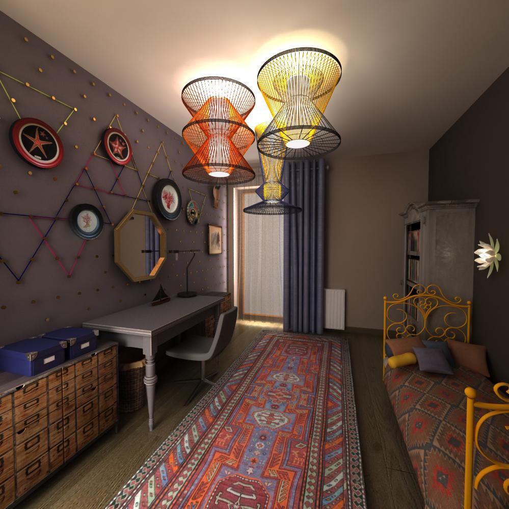 Wnętrze pokoju dziewczynki w stylu BOHO Vintage