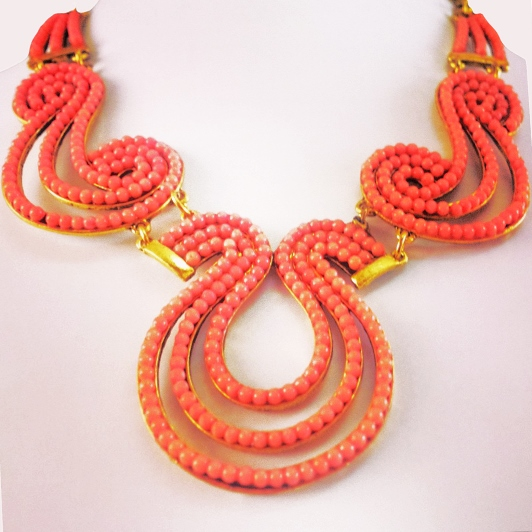 Grecian style coral necklace edited