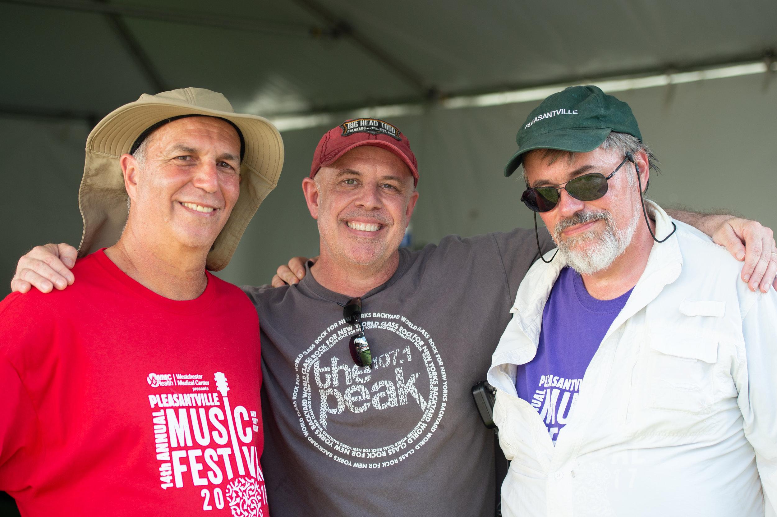 The trifecta, left to right: PMF Director Bruce Figler, Peak Program Director Chris Herrmann, Pleasantville Mayor Peter Scherer