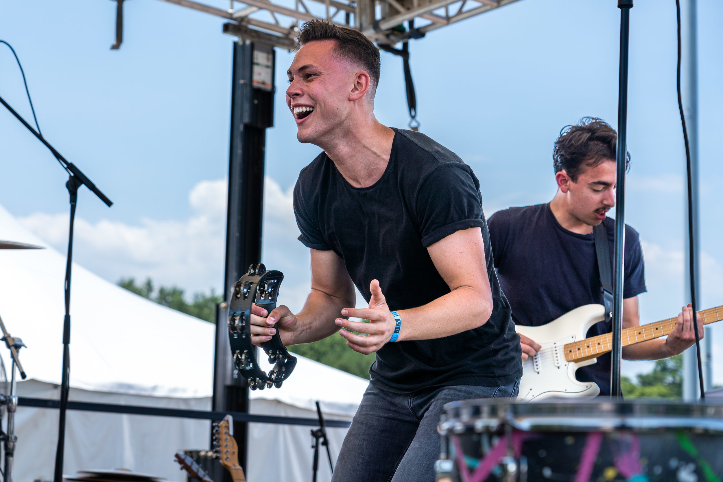 Jake Stam (left) and Nick Gennusa of Friends At The Falls rocking the Party Stage © 2018 Jonathan Cunningham