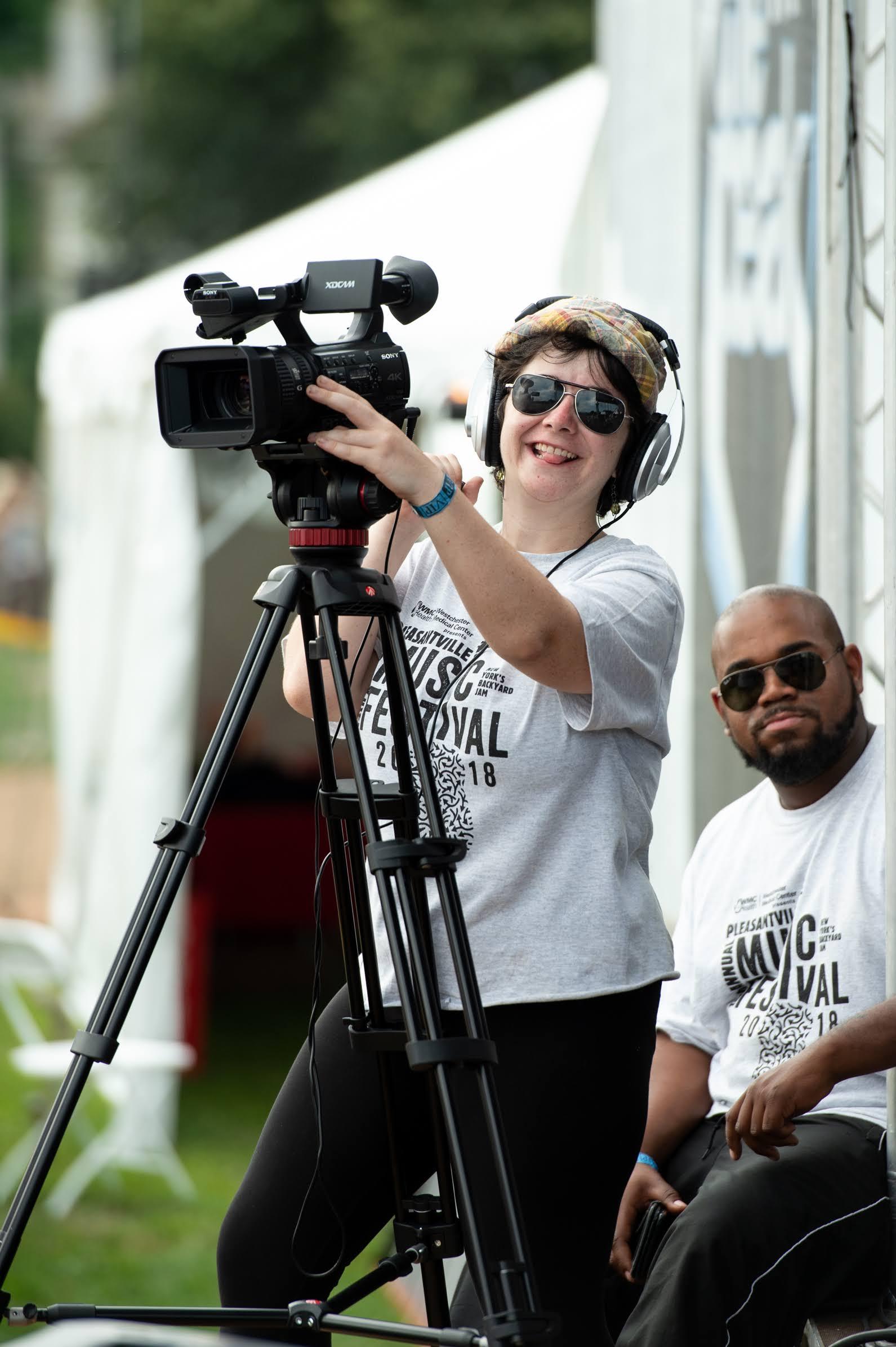 Olivia Nemec capturing the video for PCTV © 2018 Lynda Shenkman