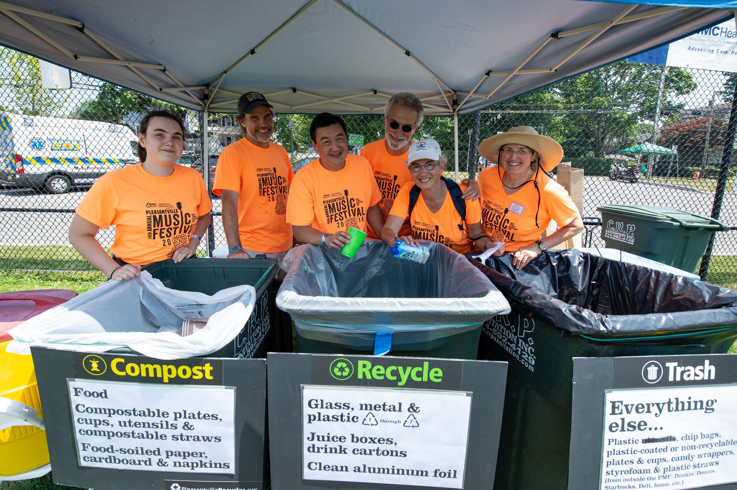 Our Zero Waste team keeping it Earth-friendly © 2018 Lynda Shenkman