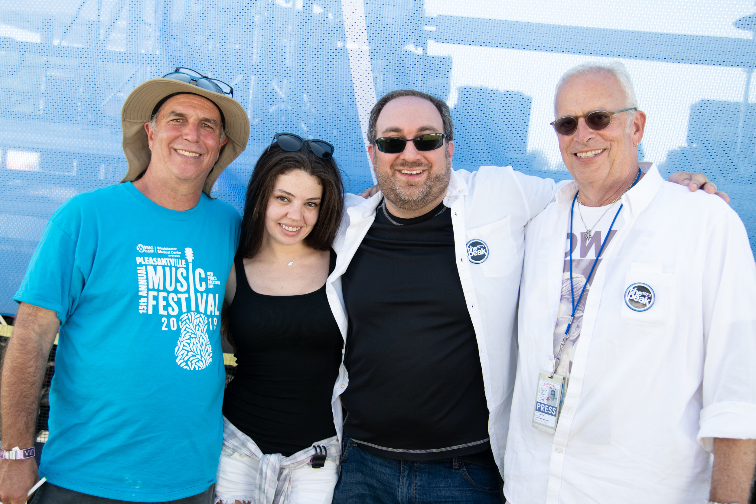 PMF Executive Director Bruce Figler with his Peak colleagues, Meg White, Coach, and Jimmy Fink © 2019 Lynda Shenkman