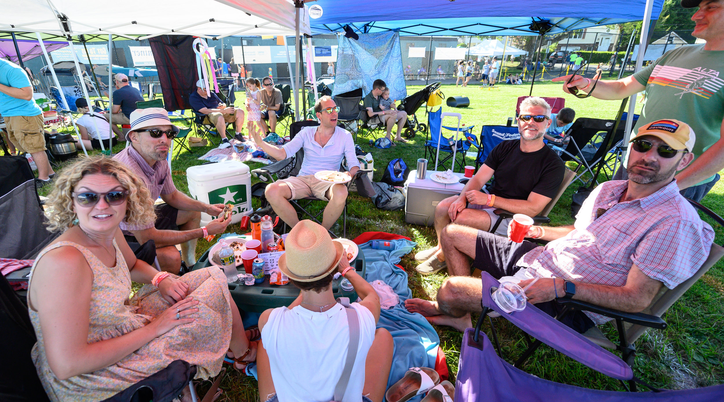 The party within the party at Tent City © 2019 Lynda Shenkman